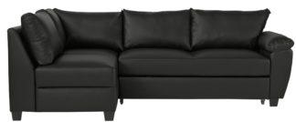 An Image of Argos Home Fernando Left Corner Sofa Bed - Black