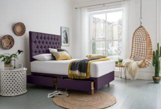 An Image of Silentnight Sassaria Kingsize 4 Drawer Divan Bed - Purple