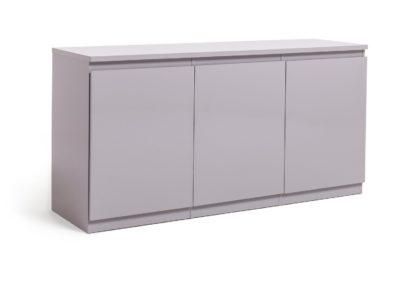 An Image of Habitat Jenson 3 Door Sideboard - Grey