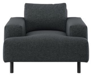 An Image of Habitat Julien Charcoal Fabric Armchair