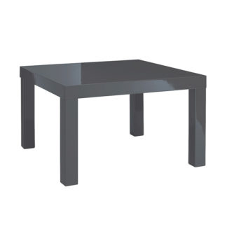An Image of Puro End Table In Charcoal High Gloss