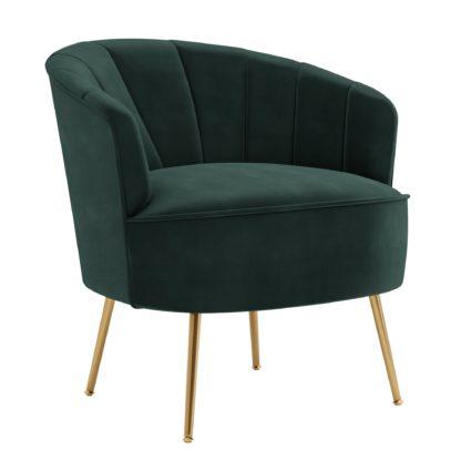 An Image of Matilda Eco Velvet Shell Chair Peacock