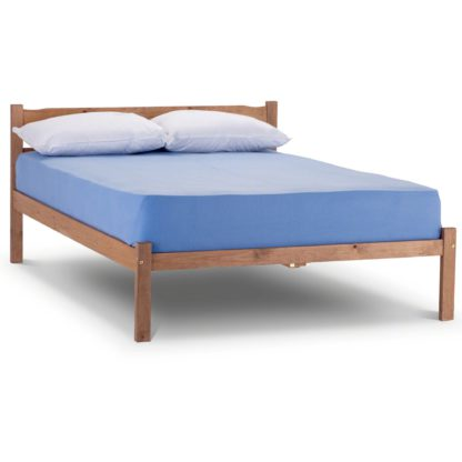 An Image of Panama Oak Bed Frame Brown