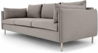 An Image of Vento 3 Seater Sofa, Manhattan Grey