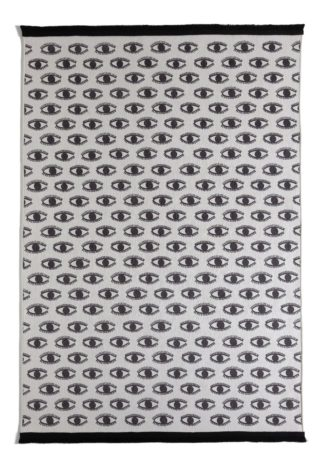 An Image of Habitat Eye Print Rug - 120x170cm