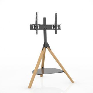 An Image of AVF Hoxton Tripod Up to 65 Inch TV Stand - Light Wood Effect
