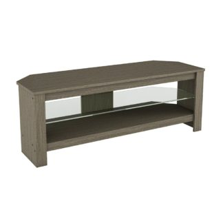 An Image of AVF Calibre Up to 55 Inch TV Stand - Grey Wood Effect
