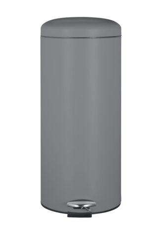 An Image of Argos Home 30 Litre Round Kitchen Pedal Bin - Matt Grey