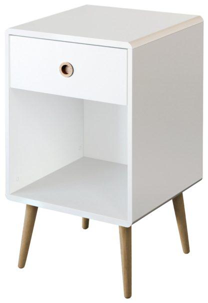 An Image of Softline 1 Drawer Bedside Table - White