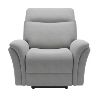 An Image of Monte Chenille Reclining Armchair Light Grey