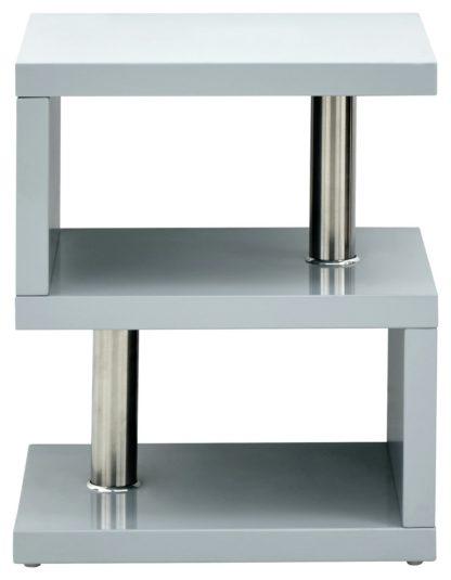 An Image of Polar Side Table - Grey Gloss