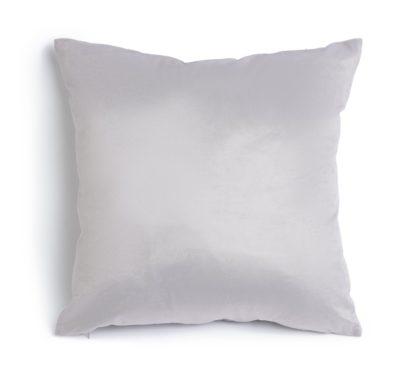 An Image of Habitat Supersoft Velvet Cushion - Grey