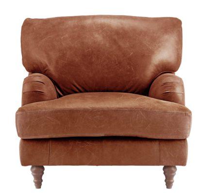 An Image of Habitat Livingston Leather Armchair - Tan