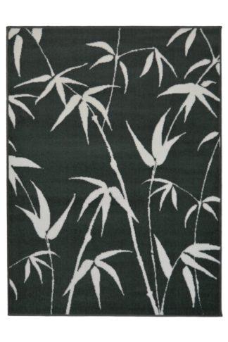 An Image of Homemaker Adorn Leaf Rug - 80x150cm - Charcoal