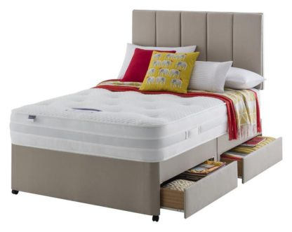 An Image of Silentnight Walton Pocket Luxury 4 Drawer Divan - Double