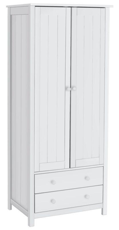 An Image of Habitat New Scandinavia 2 Door 2 Drawer Wardrobe - White