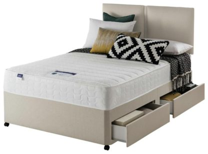 An Image of Silentnight Hatfield Memory 4 Drawer Divan - Small Double