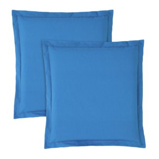 An Image of Argos Home 2 Pack Garden Cushion Pads - Teal