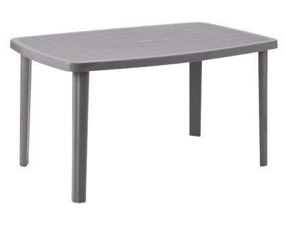 An Image of Argos Home Rectangular 6 Seater Garden Table - Light Grey