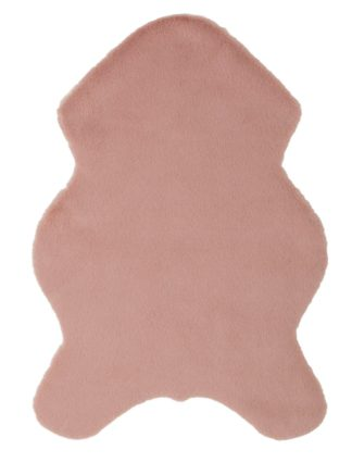 An Image of Argos Home Supersoft Faux Fur Rug - 60x90cm - Blush