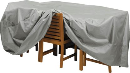 An Image of Argos Home Deluxe Extra Large Oval Patio Set Cover