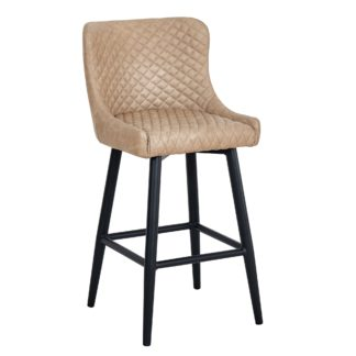 An Image of Montreal Bar Stool Mink PU Leather Mink