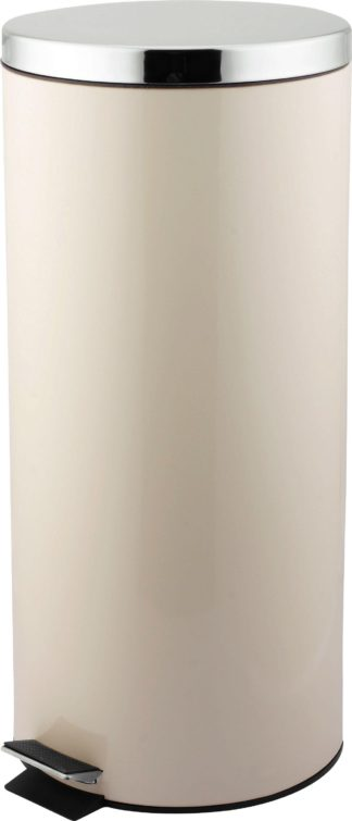 An Image of Argos Home 30 Litre Kitchen Pedal Bin - Cream