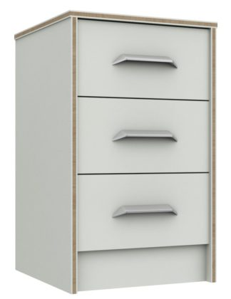 An Image of Ashdown 3 Drawer Bedside Table - White