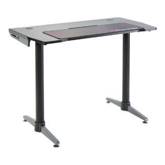 An Image of X Rocker Panther Gaming Desk - Black & Grey