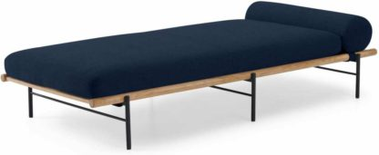 An Image of Wilco Day Bed, Midnight Blue Weave