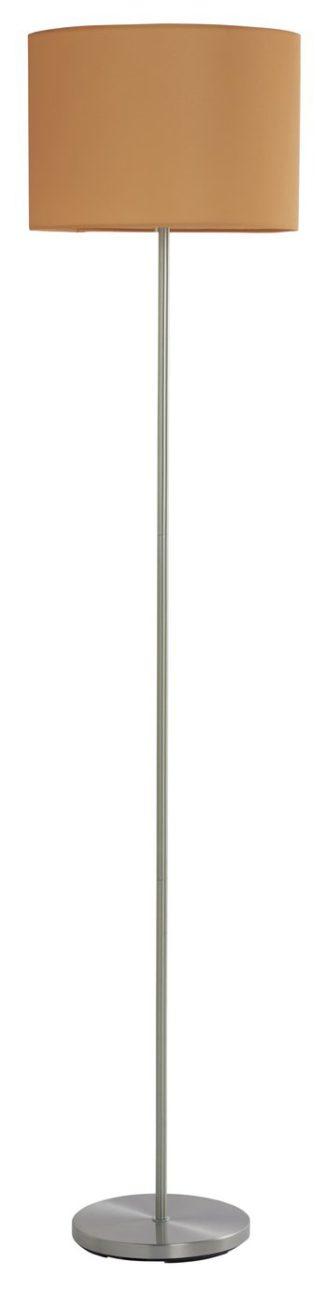 An Image of Argos Home Satin Stick Floor Lamp - Mustard