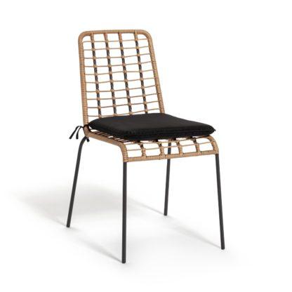 An Image of Habitat Bamboo Garden Chair - Natural