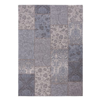 An Image of Romance Patchwork Rug Grey and White