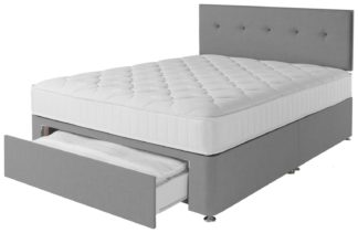 An Image of Argos Home Dalham 800 Pocket Memory 1 Drw Divan-Small Double