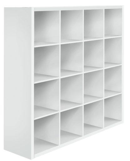 An Image of Habitat Squares Plus 16 Cube Storage Unit - White