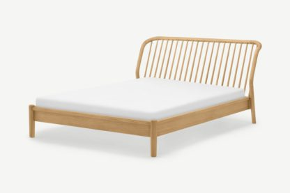An Image of Tacoma King Size Bed, Oak