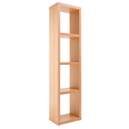 An Image of Maine Slim Bookcase Brown