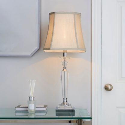 An Image of Windsor Clear Table Lamp Silver
