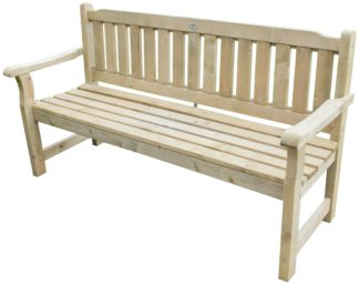 An Image of Forest Rosedene Wooden 3 Seater Garden Bench