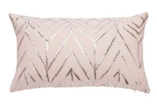 An Image of Argos Home Sequin Cushion - Blush