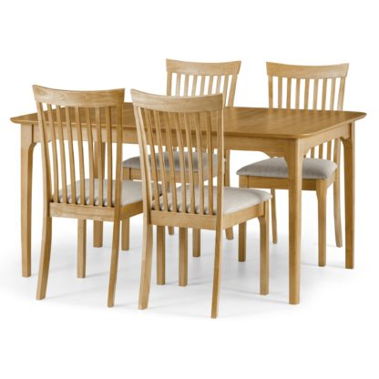 An Image of Ibsen Dining Table with 4 Chairs Oak