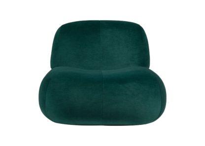 An Image of Ligne Roset Pukka Armchair in Wool Blend Green Fabric Gentle 973