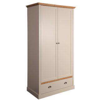 An Image of Sandringham Grey 2 Door Single Wardrobe Grey
