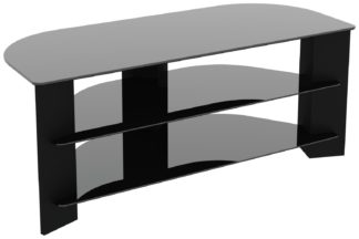 An Image of AVF Wood Effect Up To 55 Inch TV Corner Stand - Black