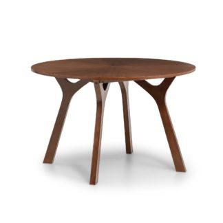 An Image of Huxley Walnut Round Table Walnut