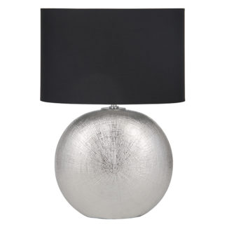 An Image of Alpha Silver Ceramic Table Lamp