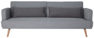 An Image of Habitat Andy 3 Seater Fabric Clic Clac Sofa Bed - Grey