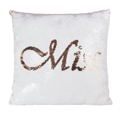 An Image of Miss to Mrs Sequin Cushion