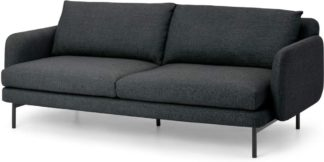 An Image of Miro 3 Seater Sofa, Graphite Weave