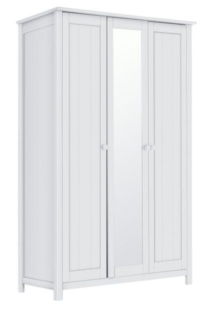 An Image of Habitat New Scandinavia 3 Door Mirrored Wardrobe - White